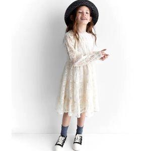 Zara girls embroidery tulle dress